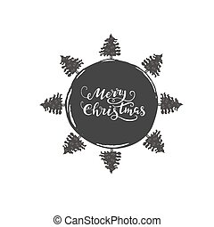 Merry Christmas - hand drawn lettering