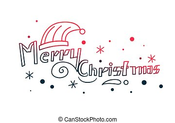 merry christmas hand drawn lettering decorative background
