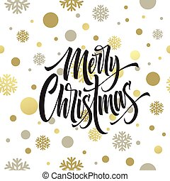 Merry Christmas hand drawn lettering