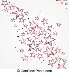 Merry Christmas hand drawn star shapes seamless pattern background. EPS10 vector file organized in layers for easy editing.