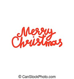 Merry christmas hand lettering calligraphy