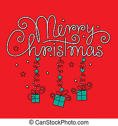 merry christmas hand lettering