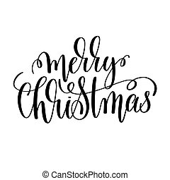 merry christmas hand lettering inscription to winter holiday...
