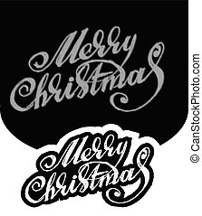 Merry Christmas. Hand-written text - Merry Christmas. Hand...
