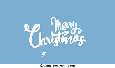Merry Christmas Handwriting Animation. Calligraphy motion...