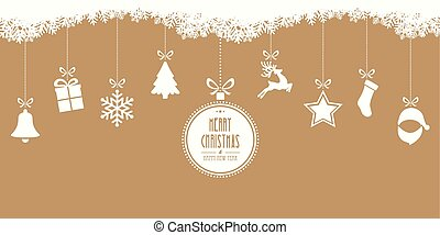 merry christmas hanging gold background