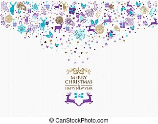 Merry christmas happy new year 2016 vintage retro