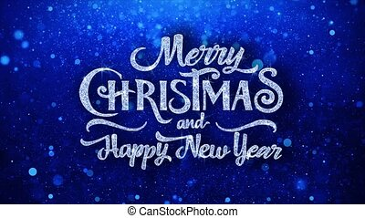 Merry Christmas Happy New Year Wishes Particles Greetings,...