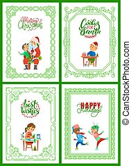 Merry Christmas, Happy Winter Holidays Celebration