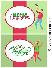 Merry Christmas, Happy Winter Holidays Posters