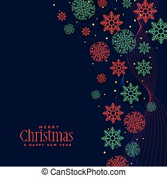merry christmas holiday background with snowflakes