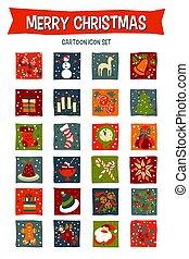 Merry Christmas Icon Set