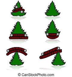 Merry Christmas icons