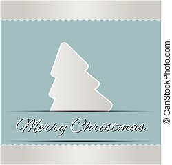 Merry Christmas in abstract lettering gray tree background.vector illustration
