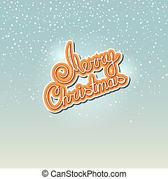 Winter Background with the Words Merry Christmas,