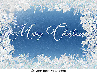 Merry Christmas in frosted frame