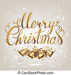 Merry Christmas inscription on the light background
