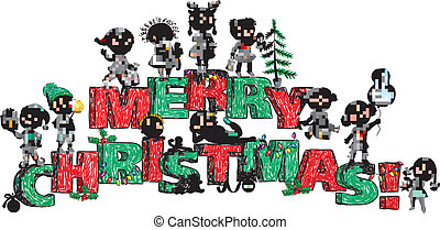 Merry Christmas kids on letters
