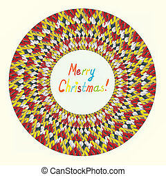 Merry Christmas knitting greeting card funny design