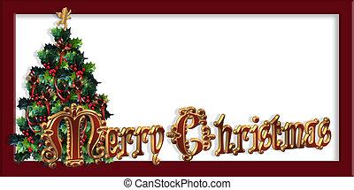 Merry Christmas Label design 3D - Merry Christmas...