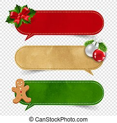 Merry Christmas Label Isolated Transparent background