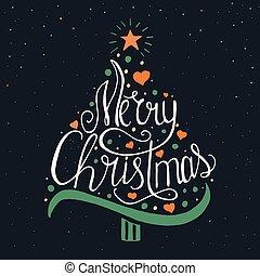 Merry Christmas lettering design.