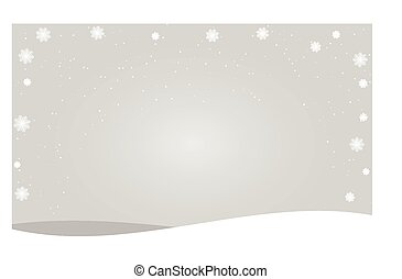 Merry Christmas lettering design with white snowflakes on gray gradient background. Vector illustration EPS10