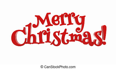 Merry Christmas lettering isolated - Merry Christmas 3d text...