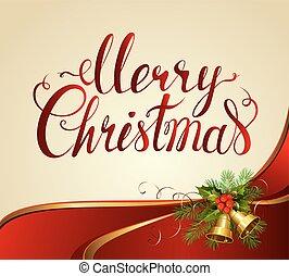 Merry Christmas lettering.