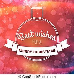 Merry Christmas Light Background
