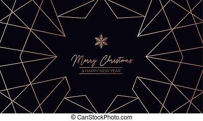 Merry Christmas luxury template design card