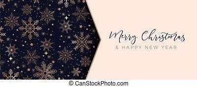 Merry Christmas luxury vector design template illustration