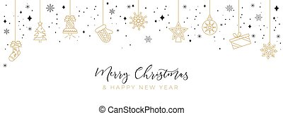 Merry Christmas luxury vector design template with snowflakes