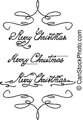 'merry, christmas', main, lettrage