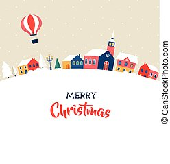 Merry Christmas, modern poster, greeting card