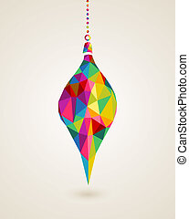 Merry Christmas multicolors hanging bauble - Christmas ...