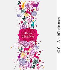 Merry Christmas multicolors postal card - Merry Christmas ...