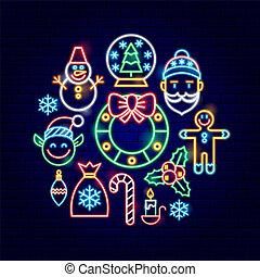 Merry Christmas Neon Concept