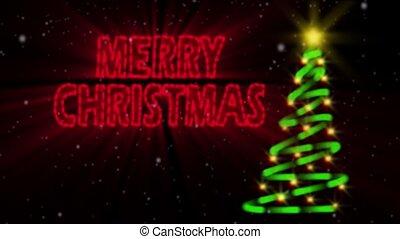 Merry Christmas Neon Loop