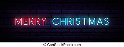 Merry Christmas neon sign.