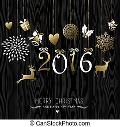 Merry Christmas New Year 2016 card