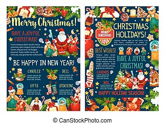 Merry Christmas New Year sketch vector greeting