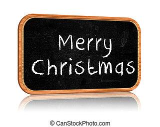 Merry Christmas on blackboard banner