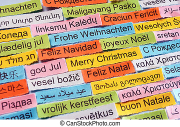 Merry Christmas on different languages