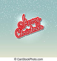 Merry Christmas on Snowfall Background - Merry Christmas,...