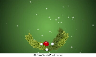 Merry christmas ornament animation - Green merry christmas,...