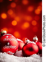 Merry Christmas ornaments background