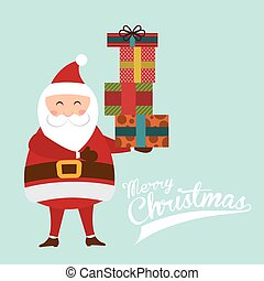 merry christmas over blue background vector illustration