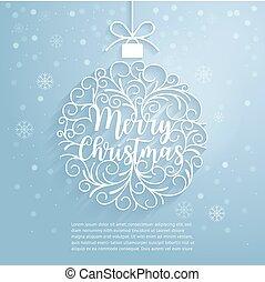 Merry Christmas paper cut art.
