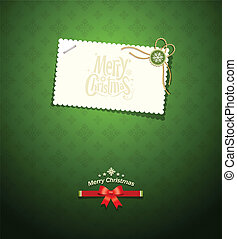 Merry Christmas paper white card
